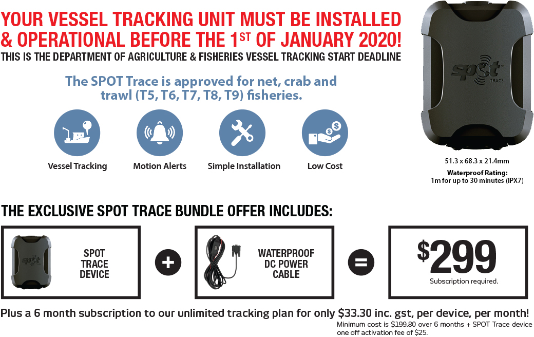 your vessel tracking unit must be installed & operational before the 1st of january 2020!