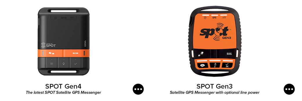 spot gen4. satellite gps messenger. spot gen3. satellite gps messenger.
