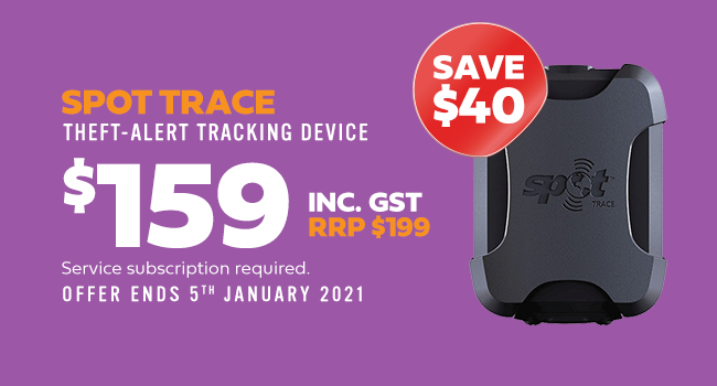 spot trace. theft-alert tracking device. $159 inc. gst. rrp $199. save $40