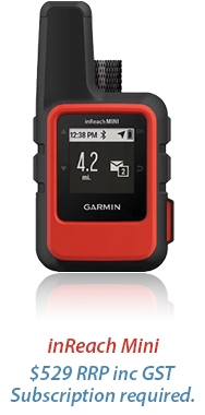 inReach Mini $529 RRP inc GST Subscription required.