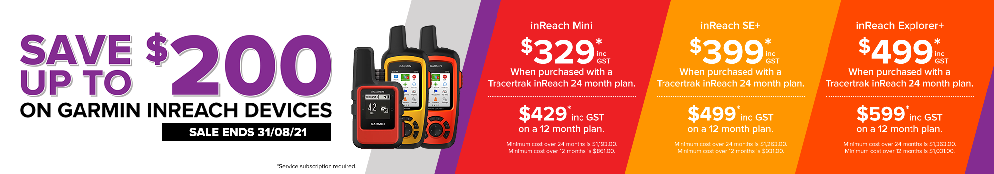 save up to $200 on garmin inreach devices when purchased with a tracertrak plan promo extend