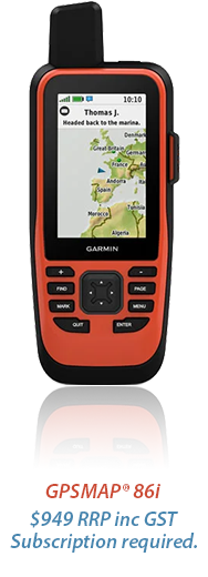 GPSMAP® 86i .$949 rrp inc gst. subscription required.