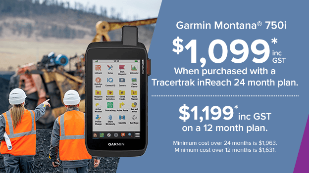 garmin montana 750i. save when purchased with a tracertrak plan.